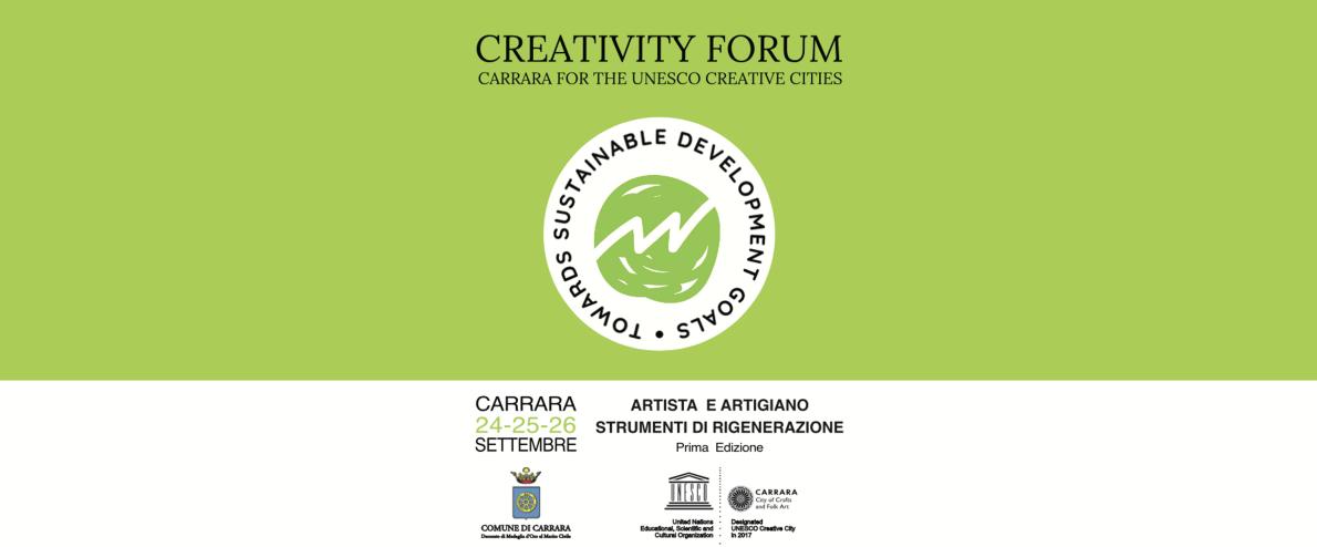 CITTÀ CREATIVE UNESCO, MODENA AL FORUM DI CARRARA